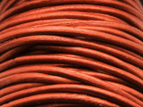 "Metallic Copper Leather Cord 2mm - 36"" (LR93)"