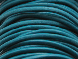 "Teal Leather Cord 2mm - 36"" (LR95)"