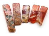 Carnelian Graduated Stick Gemstone Beads - Set of 5 (GS4691)