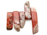Carnelian Graduated Stick Gemstone Beads - Set of 5 (GS4697)