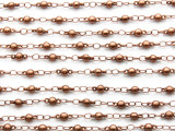 "Copper Plated Ball Link Chain 8mm - 36"" (CHAIN99)"