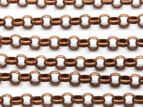 "Copper Plated Iron Rolo Chain 8mm - 36"" (CHAIN100)"