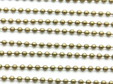 "Antique Brass Plated Ball Chain 3mm - 36"" (CHAIN101)"