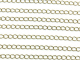 "Antique Brass Plated Curb Chain 5mm - 36"" (CHAIN103)"