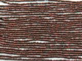 "Small Red Brown Glass Beads - 44"" strand (JV9079)"