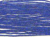 "Small Matte Blue Glass Beads - 44"" strand (JV9080)"