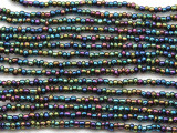 "Metallic Jeweltone Glass Beads - 44"" strand (JV9082)"