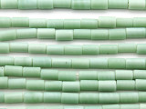Celadon Green Tube Glass Beads 8-11mm (JV1211)