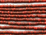 Red Heishi Glass Beads 6mm (JV1214)