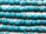Blue Speckled Irregular Round Glass Beads 9-11mm (JV1215)