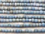 Antiqued Blue Irregular Glass Beads 5-7mm (JV1224)