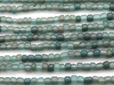 Transparent Turquoise Irregular Glass Beads 4-5mm (JV1225)