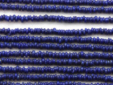 Cobalt Blue Irregular Heishi Glass Beads 5-2mm (JV1234)