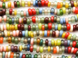 Multi Color Irregular Rondelle Glass Beads 5-7mm (JV1258)