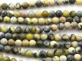 Yellow Turquoise Round Beads 6mm (TUR1307)
