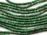 Green Turquoise Faceted Rondelle Beads 4mm (TUR1316)
