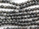 Matte Labradorite Round Gemstone Beads 6mm (GS4616)