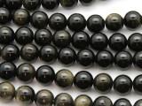 Black Tiger Eye Round Gemstone Beads 10mm (GS4621)