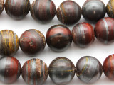 Tiger Iron Round Gemstone Beads 16mm (GS4622)