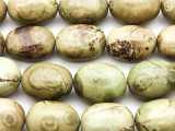 Olive Green Magnesite Oval Gemstone Beads 18mm (GS4626)