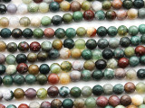 Fancy Jasper Faceted Round Gemstone Beads 6mm (GS4631)