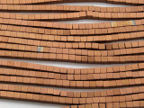 Antique Copper Electroplated Hematite Cube Gemstone Beads 3mm (GS4639)