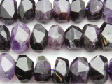 Amethyst Faceted Nugget Gemstone Beads 16-18mm (GS4642)