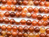 Carnelian Faceted Round Gemstone Beads 8mm (GS4647)