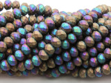 Matte Jeweltone Crystal Glass Beads 8mm (CRY512)