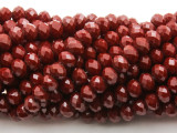 Brick Red Crystal Glass Beads 8mm (CRY517)