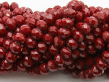 Dark Red Crystal Glass Beads 8mm (CRY519)