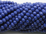 Blue Crystal Glass Beads 6mm (CRY520)