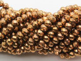 Metallic Copper Crystal Glass Beads 6mm (CRY523)