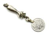 Afghan Tribal Silver Pendant - Amulet 86mm (AF751)