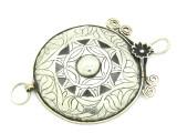 Afghan Tribal Silver Pendant - Amulet 109mm (AF769)