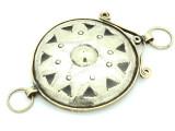 Afghan Tribal Silver Pendant - Amulet 99mm (AF771)