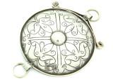 Afghan Tribal Silver Pendant - Amulet 99mm (AF779)