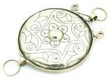 Afghan Tribal Silver Pendant - Amulet 98mm (AF786)
