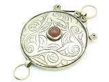 Afghan Tribal Silver Pendant - Amulet 99mm (AF789)