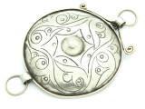 Afghan Tribal Silver Pendant - Amulet 100mm (AF792)