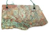 African 'Turquoise' Jasper Gemstone Slab Pendant (GSP2167)