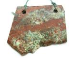 African 'Turquoise' Jasper Gemstone Slab Pendant (GSP2168)
