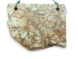 African 'Turquoise' Jasper Gemstone Slab Pendant (GSP2170)