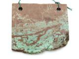 African 'Turquoise' Jasper Gemstone Slab Pendant (GSP2172)