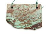 African 'Turquoise' Jasper Gemstone Slab Pendant (GSP2174)