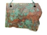Australian Green Opal Gemstone Slab Pendant (GSP2175)