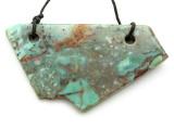 Australian Green Opal Gemstone Slab Pendant (GSP2176)