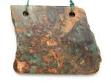 Australian Green Opal Gemstone Slab Pendant (GSP2177)