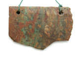Australian Green Opal Gemstone Slab Pendant (GSP2181)