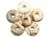 Picture Jasper Donut Pendant 20mm (GSP2216)